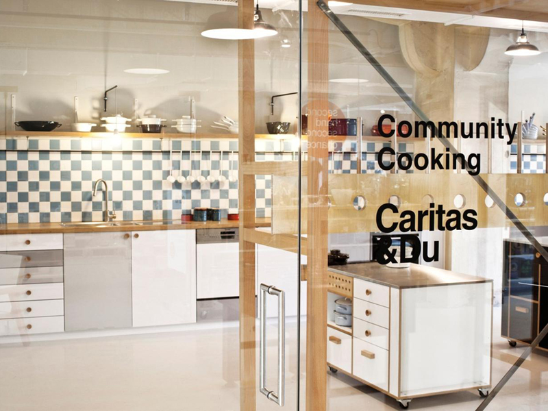 Küche des Community Cookings